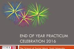 End of year practicum celebration 2016
